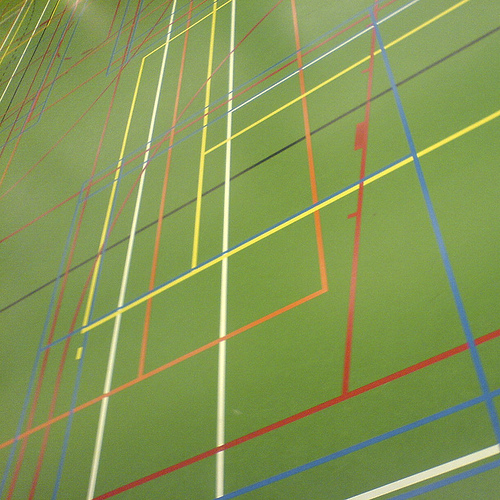A Dutch indoor sports field... All kinds of sports on the same floor ...